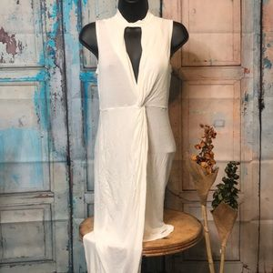 Marianne fitted, high-low dress